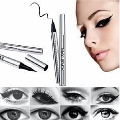 Eyeliner Liquid Black Waterproof Eye Liner Pen Shipping Same Business Day   Description:  ?Condition: 100% Brand New  ?Eyeliner Color: Black  ?Casing Color: Silver  ?Weight:About 7 g  ?Expiration Date: 3 Years  ?Length: About 12.7 cm  ?Package Content: 1 X Eyeliner Makeup Eyeliner
