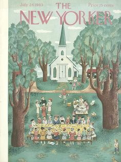 The New Yorker - Saturday, July 24, 1943 - Issue # 962 - Vol. 19 - N° 23 - Cover by : Ilonka Karasz