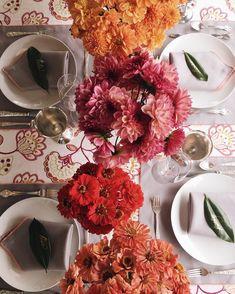 Lela Rose fall luncheon table decor