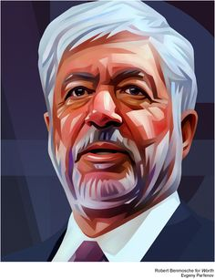 Some portraits for WORTH`s list of the Power 100 by Evgeny Parfenov, via Behance