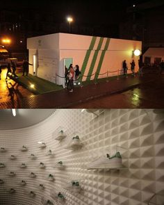 """Adidas customers shop in a giant shoebox 