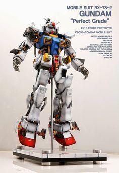 GUNDAM GUY: PG 1/60 RX-78-2 Gundam 'Open Hatch' - Custom Build