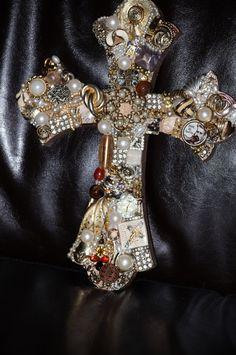 Jeweled Wall Cross by ShopJayKay on Etsy, $40.00