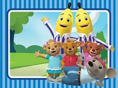 The Bananas explore their town of Cuddlestown with their best friends Rat In A Hat and the Teddies (Lulu, Morgan and Amy). Abc Kids Tv, Old Kids Shows, Banana In Pyjamas, Mickey Mouse, Nostalgia, 2nd Birthday, Birthday Ideas, Kid Character, Pajama Party