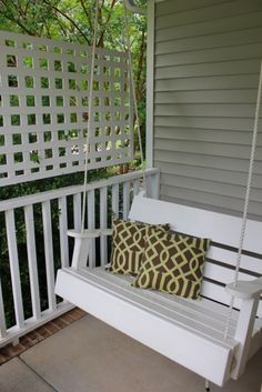 Inspiration for the porch swing Dusty is making me for under the deck looking at the lake :)