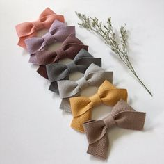 Mila Bow Headbands Twill pigtail set nylon band baby newborn infant toddler girl one size fits most accessories girl baby shower Little Girl Headbands, Newborn Headbands, Baby Newborn, Diy Hair Bows, Diy Bow, Toddler Bows, Infant Toddler, Toddler Girl, Baby Hair Clips