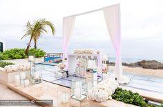 classic beach wedding ceremony in puerto rico at condado vanderbilt