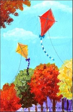 Image result for autumn kite paintings