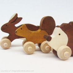 woodland themed wood toys