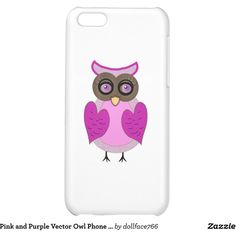 Pink and Purple Vector Owl Phone Case iPhone 5C Cases (€31) ❤ liked on Polyvore featuring accessories and tech accessories