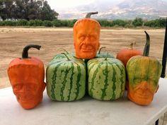 Ha! Love this! PHOTO: California farm owner Tony Dighera grows organic pumpkins that bear an uncanny resemblance to Frankenstein.