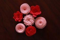 Blüten aus Filz und allerlei andere DIY-Projekte