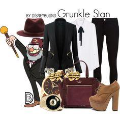 Grunkle Stan by leslieakay on Polyvore featuring MANGO, Frame Denim, Kate Spade, Michael Kors, ASOS, rag & bone, disney, disneybound and disneycharacter
