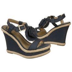 $54.99 FERGALICIOUS Qwiklee Sandals Navy Women`s Sandals class