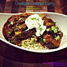 Crockpot Meal!  Coconut Curry Eggplant
