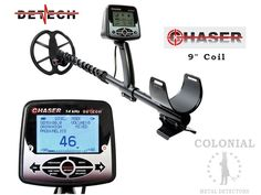 The Detech Chaser with 9 inch searchcoil is a deep seeking easy to use turn-on and go metal detector. This specially designed Chaser for North America Night Lite, Unique Settings, Metal Detecting, User Guide, Display Screen, Carbon Fiber, Colonial, North America, Metal Detector