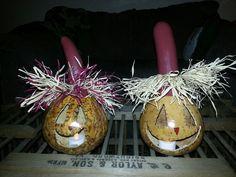 Scarecrow gourds