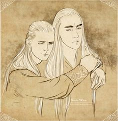 why you look so sad... by Kinko-White on deviantART....Thranduil could be thinking of Legolas' mother...the feels!!