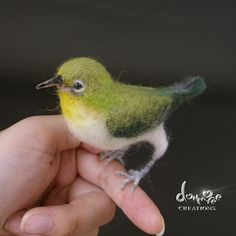 Needle felted bird   8cm long size by dollmofee von dollmofee, $100.00