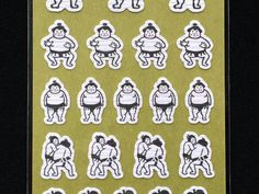 Japanese Stickers Sumo Wrestler Stickers by FromJapanWithLove