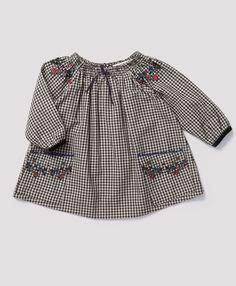 Worth Baby Dress, Black Gingham