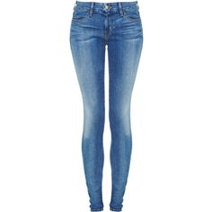 Koral 12 Month Blue Jean ($305) ❤ liked on Polyvore featuring jeans, pants, bottoms, pantalones, calças, blue, blue jeans, denim skinny jeans, skinny fit jeans and blue skinny jeans