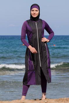 Adabkini Mira Muslim 5-piece Long Swimsuit Islamic Full Cover Modest Swimwear Burkini Bathing Suit Beachwear Islamic Swimwear, Muslim Swimwear, Modest Workout Clothes, Jogging, Plain Dress, Hijab Outfit, Muslim Women, Swimsuit Cover, Bikini Photos