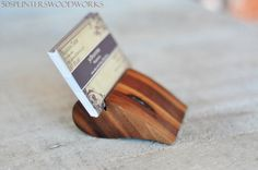 Business Card Holder - Small but Stylish Card Holder- 50Splinters by 50SplintersWoodworks on Etsy https://www.etsy.com/listing/122248197/business-card-holder-small-but-stylish
