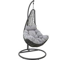 Eleganter Hängesessel in Grau und Schwarz - Entspannungsgarant von AMBIA