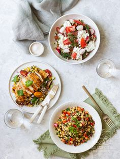 3 przepisy na szybkie sałatki do pracy z kaszą chilliczosnekioliwa.pl Chilli, Bento, Salads, Recipies, Clean Eating, Curry, Lunch Box, Food And Drink, Gluten Free