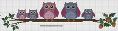 Cross Stitch Owl, Cross Stitch Borders, Cross Stitch Animals, Counted Cross Stitch Patterns, Cross Stitch Embroidery, Everything Cross Stitch, Baby Teddy Bear, Cross Stitch Pictures, Owl Patterns