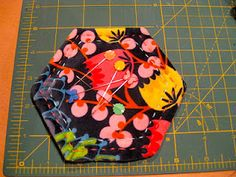 Fabric covered magnetic pin keeper.  pretty nice idea!