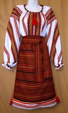 Ukrainian Hutsul Costume: Hutsul vest, Hutsul sash, Hutsul skirt / plahta and underskirt