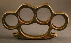 Antique metal brass knuckle
