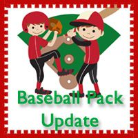 Free Baseball Pack Update! Over 40 pages added to the original Baseball Pack. For ages 2 to 8.