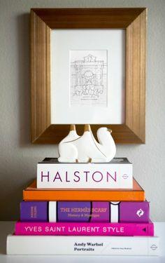 inspired palette: stack of books