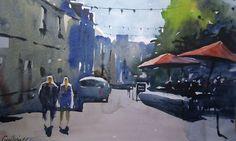 Guilvinec Rue de la Marine #france #watercolor