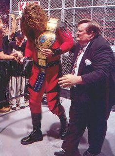 WWE World Heavyweight Wrestling Champion Kane With Paul Baerer Kane Wwf, Paul Bearer, Wrestlemania 29, Watch Wrestling, Lucha Underground, Wrestling Superstars, Wwe World, Wwe Champions, Professional Wrestling