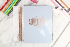 Erin Condren Life Planner 2015/2016 Rose Gold Edition Review - Pretty Shiny Sparkly