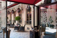 Outdoor luxury at Le Vraymonde in Buddha-Bar Hotel Paris.