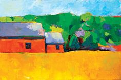 red barn Barn, Places, Red, Painting, Painting Art, Paintings, Paint, Draw, Warehouse