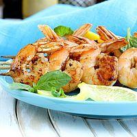 Brochettes de crevettes à la mozzarella