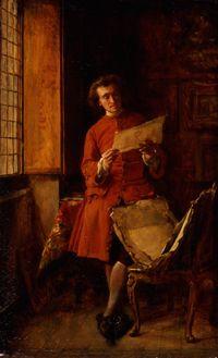 "Jean-Louis-Ernest Meissonier: ""The Print Collector"",  1849,  oil on panel, Joslyn Art Museum Omaha Nebraska"