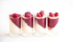 This Vanilla Raspberry Pannacotta recipe is the most perfect light dessert that is creamy and delicious. Ideal for dinner parties or celebrations.