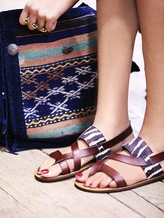 Free People Vegan Province Sandal, $90.00 Looking forward to wearing these all summer!