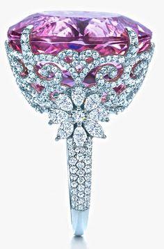 Kunzite & Diamond Ring- Tiffany