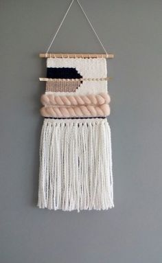 DIY Weaving Techniques by bella designs etsy bohemian woven wall hangings Weaving Wall Hanging, Weaving Art, Tapestry Weaving, Loom Weaving, Tapestry Wall Hanging, Hand Weaving, Macrame Wall Hangings, Weaving Textiles, Weaving Projects