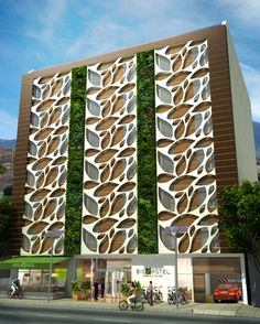 Grey water reuse - - Colombian Bio Hotel Boasts a Beautiful Living Facade