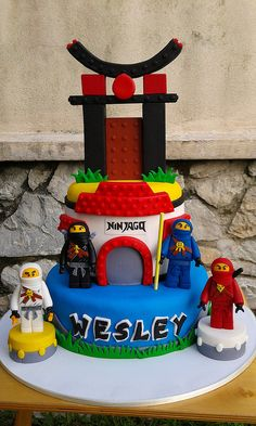 Lego Ninjago Birthday Cake For Gabi Bolo Ninjago, Lego Ninjago Cake, Ninjago Party, Lego Cake, Superhero Cake, Minecraft Cake, 6th Birthday Cakes, Ninja Birthday, Lego Birthday Party