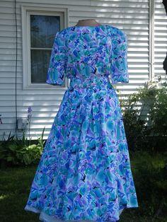 1980's Vintage 1940's Style Secretary Dress Size by GlamourGoneBy